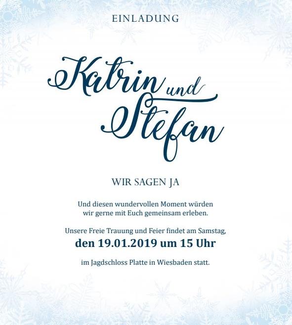 Einladungskarte Winterlich