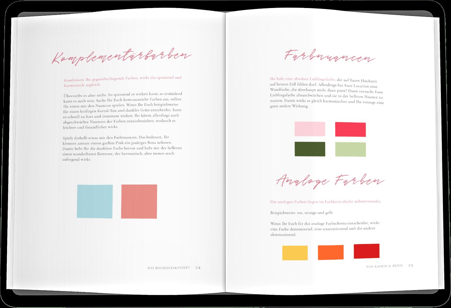 Farben Übersicht Leseprobe